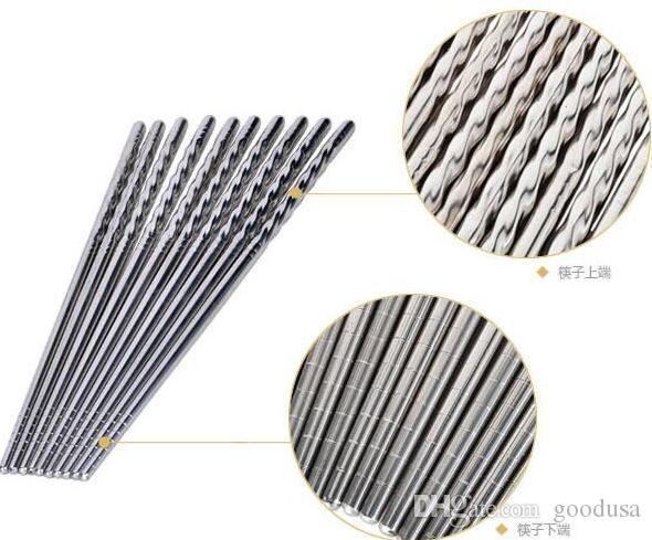 Yeni Gelmesi Ev Mutfak Yemek Paslanmaz çelik çubuklarını Çin Çubuklarını Mutfak Rrestaurant Çubuklarını