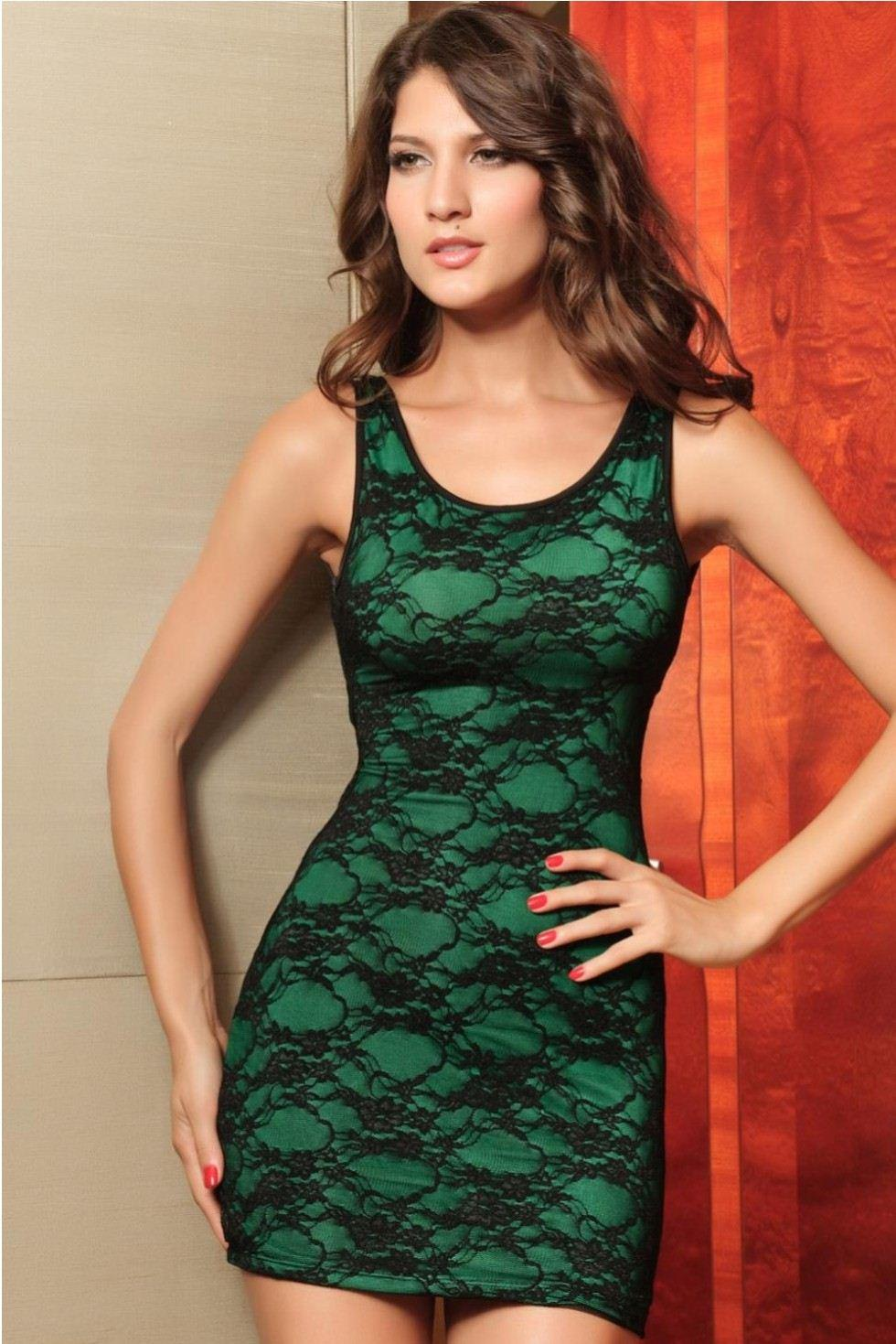 0901d1e7a793 Dress Casual Women Tight-fitting Lace Overlay Mini Dresses with Sexy ...