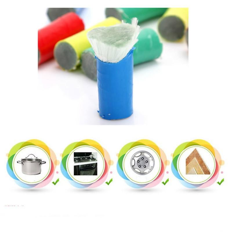 Magic Stainless Steel Metal Rust Remover Cleaning Detergent Stick Wash Brush Stick Pot Brush Random Color