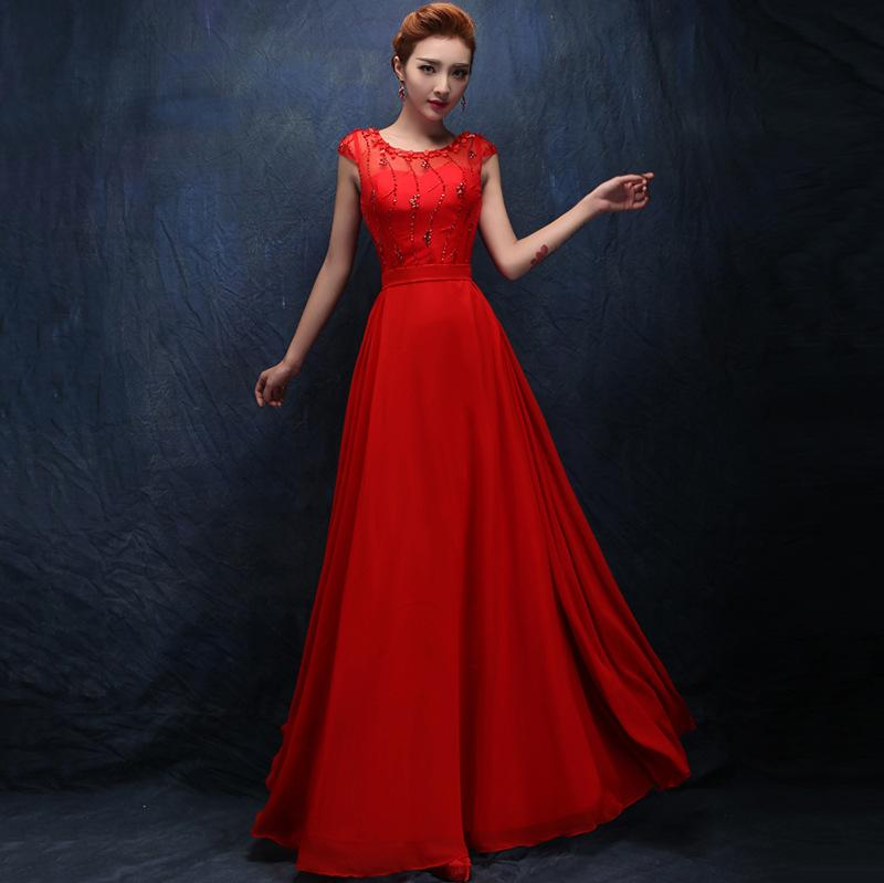 The New Bride Red Toast Clothing Korean Fashion Diamond Perspective ...