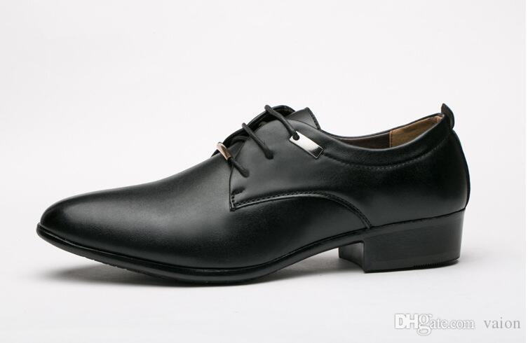Compre Salón De Puntiagudos Con Zapatos Cordones Hombres Cuero rqw1Ar