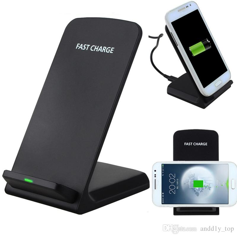 2 Coils Fast Wireless Charger for iPhone X 8 Plus for Samsung Note8 S8 S7 Qi Charger Wireless Charging Stand Pad
