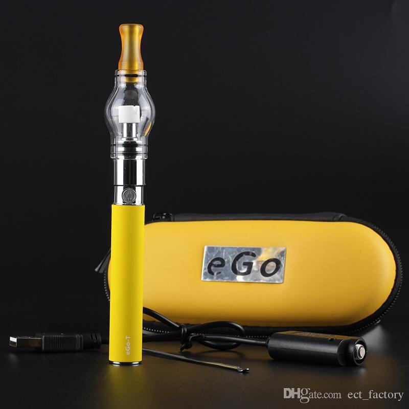 COLORS Dome Portable Vaporizer Portable Wax Vape Pen glass globe Waxy Oils e cigarette Compact ego t Battery electronic cigarette vs ego ce4