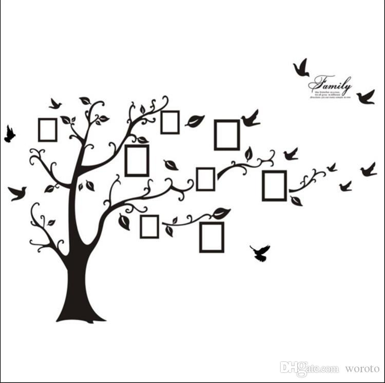 200*250cm Family Picture Photo Frame Tree Wall Quote Art Stickers ...