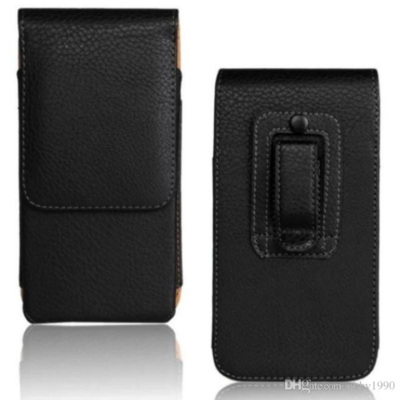 Universal Belt Clip PU Leather Waist Holder Flip Pouch Case for Fly Power Plus FHD