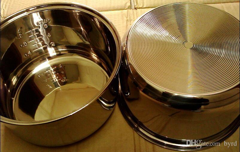 3L Edelstahl Antihaft- Innentopf + Dampfkorb Dampfschale Pfanne Dampfkorb Küchengeräteteile   set