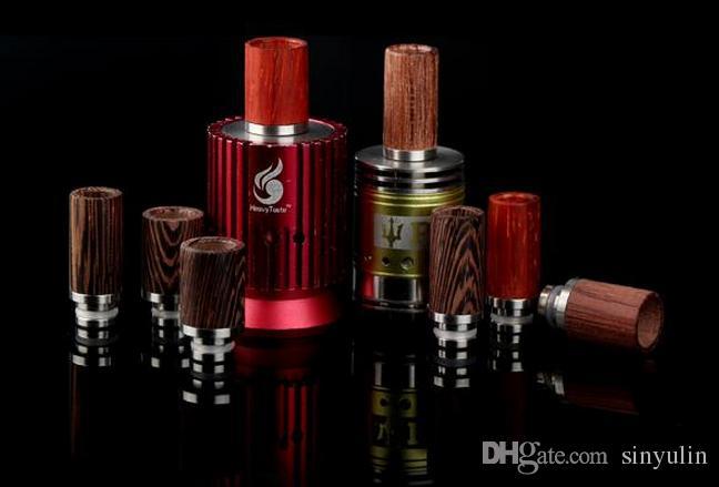 Drip tips Ecig 510 in legno di rosa Fashion design RDA Wide Bore Style e puntali gocce di sigarette RDA drip tips di alta qualità
