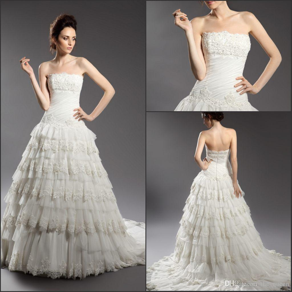 Discount Cake Layer Dress 2017 Hot Sell Wedding Dresses Strapless ...