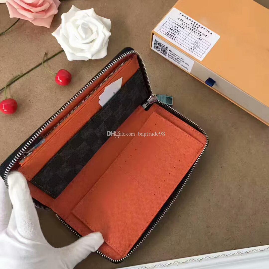 65462c6bba Berühmte Designer Kuhfell Zippy Geldbörse GC # 81 Hochwertige Kupplung  Marke Kupplung Plaid Lange Singele Geldbörse mit Box Staubbeutel M63309