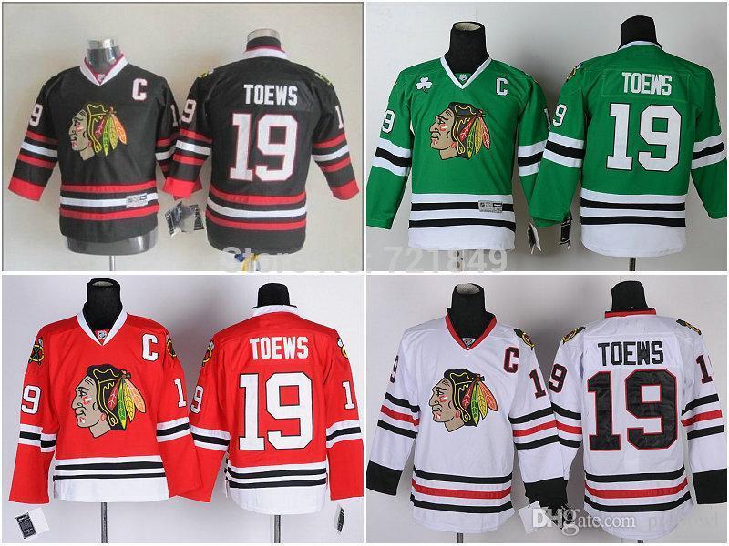 30 Teams Wholesale Youth Chicago Blackhawks  19 Jonathan Toews Ice Hockey  Jerseys Red Black Kids Size S M L XL UK 2019 From Probowl 9e2e96d76
