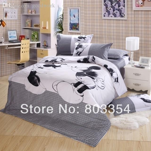 Wholesale Top Queen Size Mickey Mouse Bedding Minnie Mouse Bedding