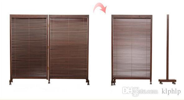Asiatische Trennwand großhandel japanische folding screen 2 panel holz paravent home