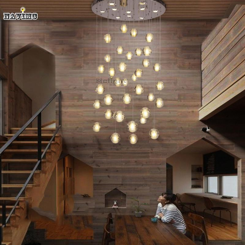 Nice Discount Modern Led Crystal Pendant Lights Fixtures Magic Crystal Ball  Lustre Loft Stairwell 12 Crystal Light Meteor Shower Crystal Lamp Plug In  Pendant ...