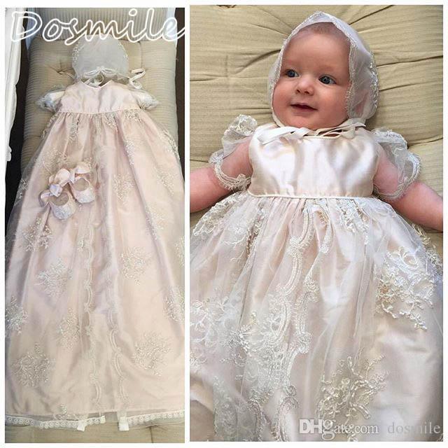 Großhandel Baby Taufe Taufkleider Für Süße Baby Mädchen Lange ...