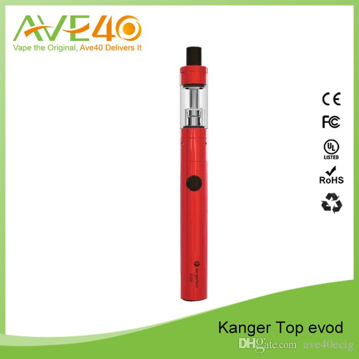 Kanger Tech ile 100% Orijinal Kangertech Topevod Başlangıç Kiti 1.7 ml Üst Evod Toptank Atomizer 650 mah Evod Pil Vocc Bobin