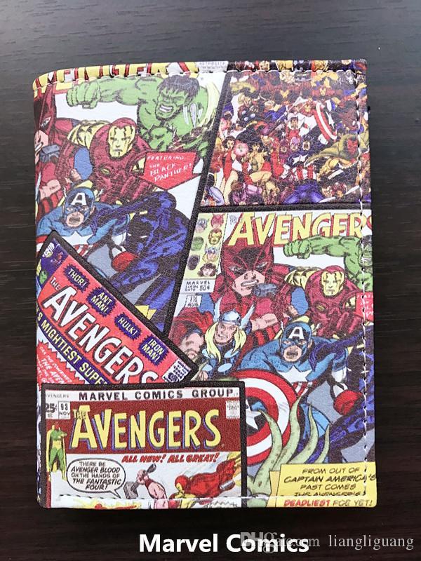 Marvel Avenger Estudiante billetera corta anime Q Ver. Monedero de estudiante
