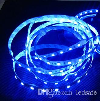 12 Вольт светодиодные полосы света SMD 5050 150 светодиодов 5 м праздник освещения 12 В лента 30 светодиодов / м теплый белый синий белый + 4A адаптер питания + разъем