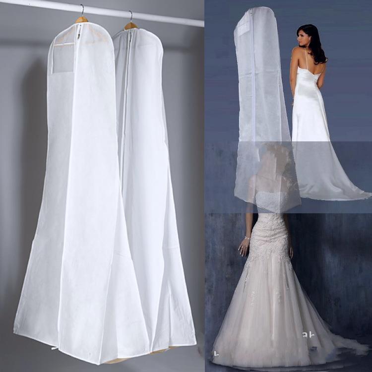 f96df9f48269e Nouveau Tout Blanc Pas de Logo moins cher robe De Mariage Sac De Couverture  De Vêtement De Stockage De Voyage Poussière Couvertures Accessoires De ...