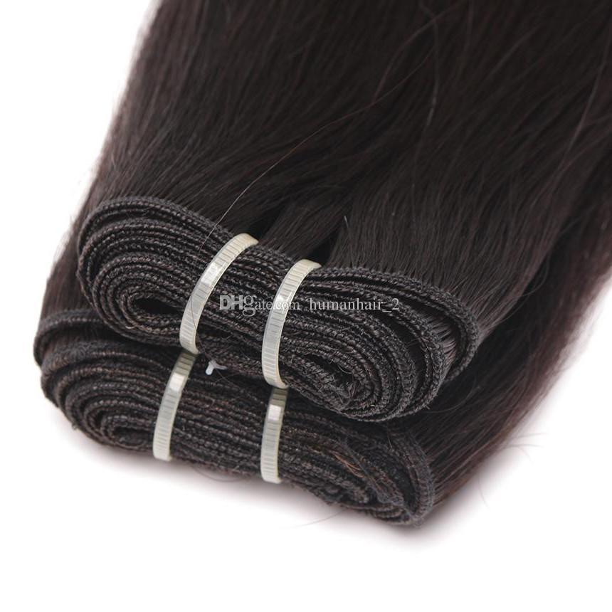 Ombre Hair Extensions Brazilian Silk Straight Virgin Hair Weave Bundles Three Tone 1b 4 27# Grade 8A Ombre Remy Human Hair Weft