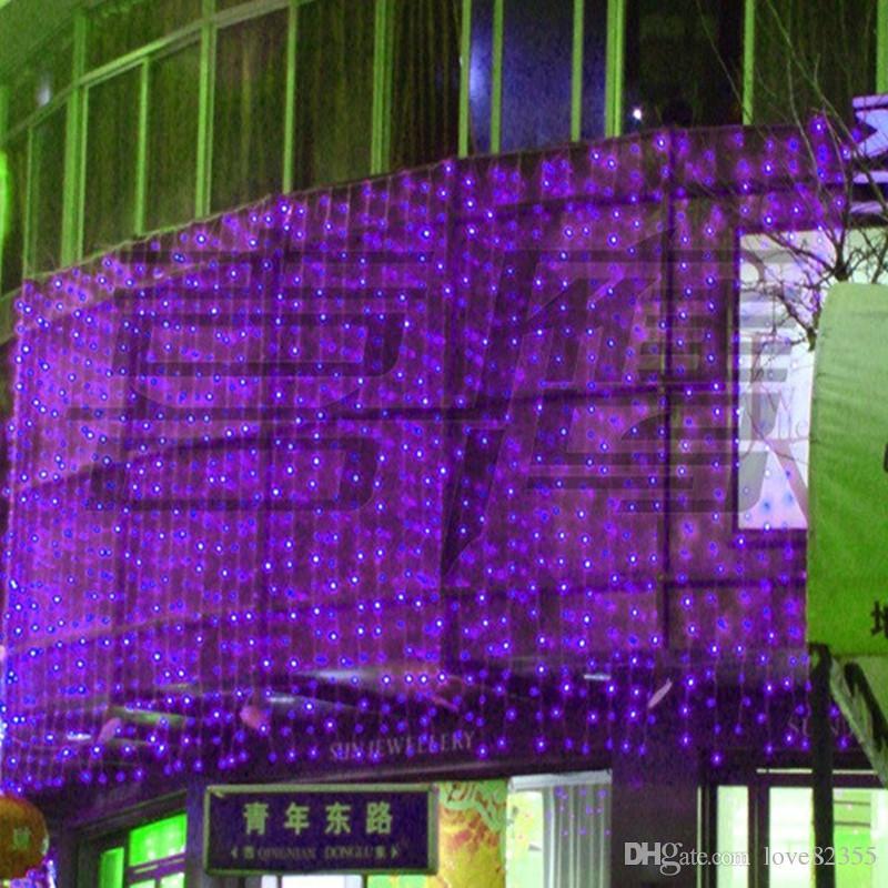 1000LED 10M * 3M الستار سلسلة الأنوار حديقة عيد الميلاد مصابيح السنة الجديدة جليد أضواء عيد الميلاد حفل زفاف زينة