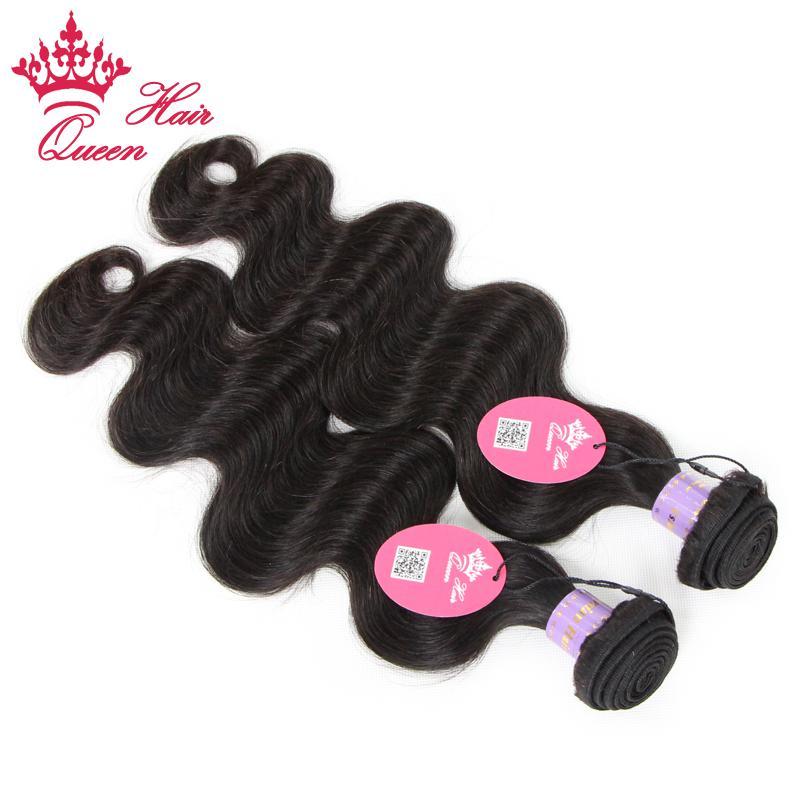 Productos para el cabello de la reina Los tejidos vírgenes de Malasia paquetes 100% Onda del cuerpo humano ondulado cabello humano 12