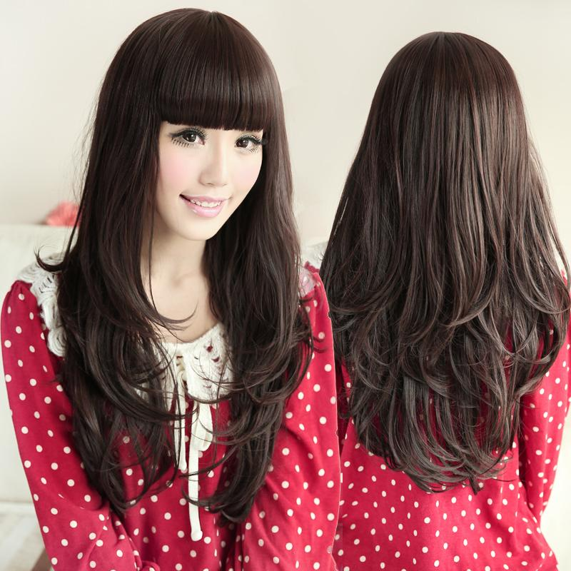 korean style curly hair korean style hair wig charming fluffy 4551