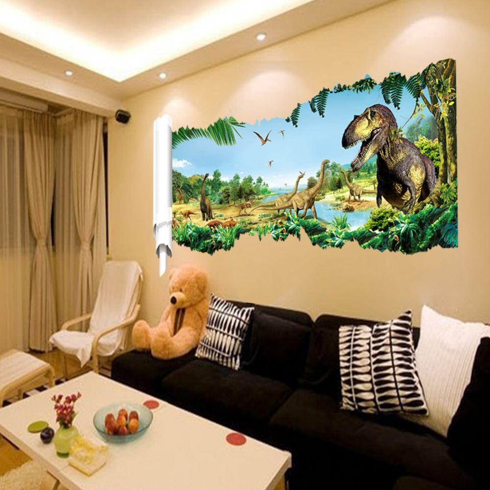 Wonderful The New Jurassic World Dinosaur Wall Stickers Childrenu0027S Room Bedroom  Living Room Wall Sticker 3d Wall Stickers Home Decor Kids Removable Wall  Decals Kids ...