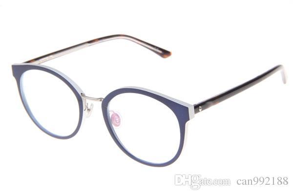 fashion eyeglasses frame blue mix white men size 50 20 145mm brand reading glasses for women acetate eyewear frames metal temple eyeglasses frame glasses - White Glasses Frames