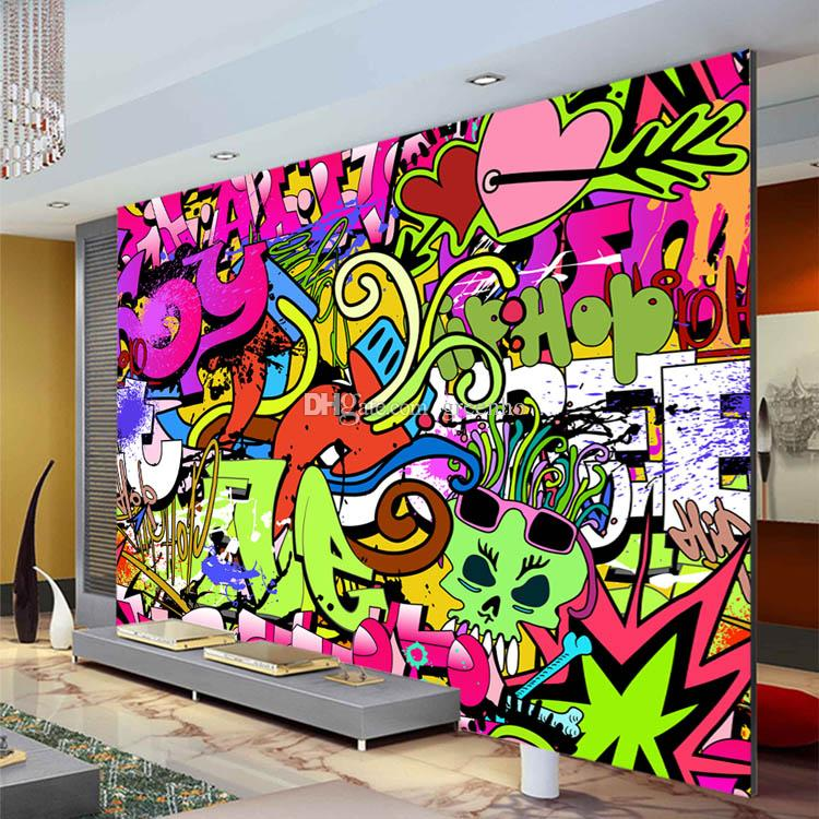 Graffiti boys urban art photo wallpaper custom wall mural street culture wallpaper wall art Painting graffiti on bedroom walls