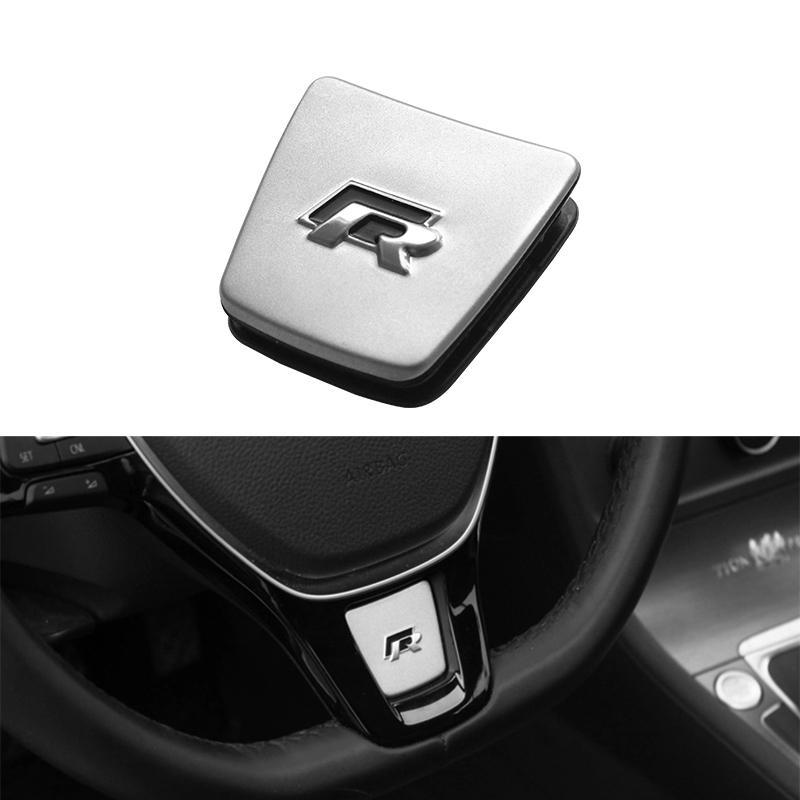 steering wheel r mood trim stainless steel emblem sticker. Black Bedroom Furniture Sets. Home Design Ideas