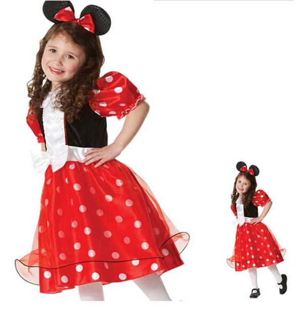theme costume show halloween costumes dress suit cosplay dance polyeter corduroy mickey mouse cute red beautiful halloween costumes for