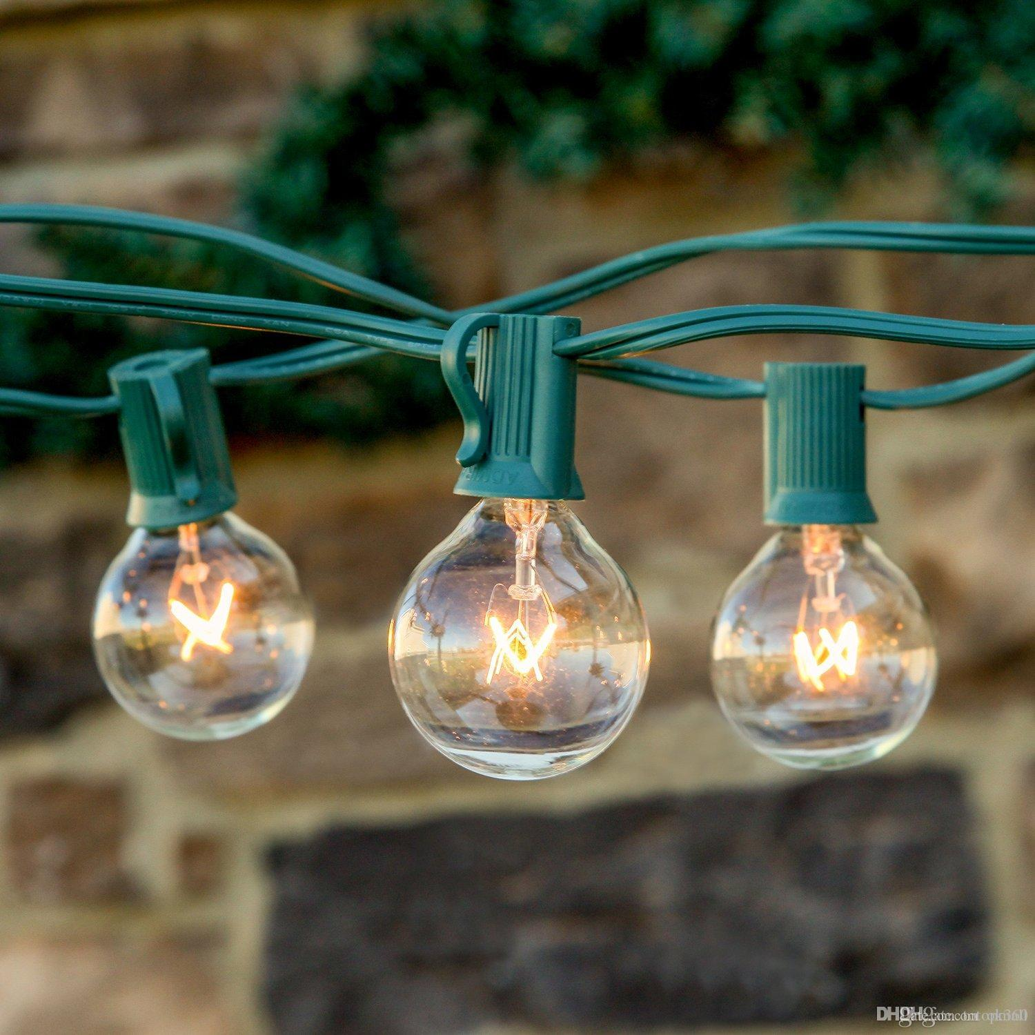 Cheap String Lights 25ft Clear Globe Bulb G40 String Light Set With 25 G40  Bulbs Included Patio Lightsu0026Patio String Lights G40 Bulb String Lamp String  Patio ...