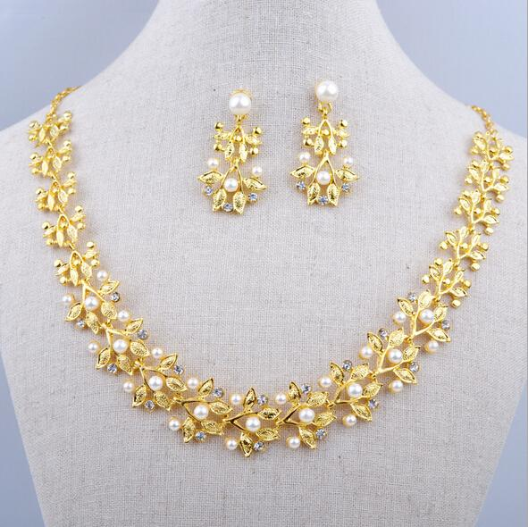 Bridal Jewelry Costume Gold Plated Elegant Wedding