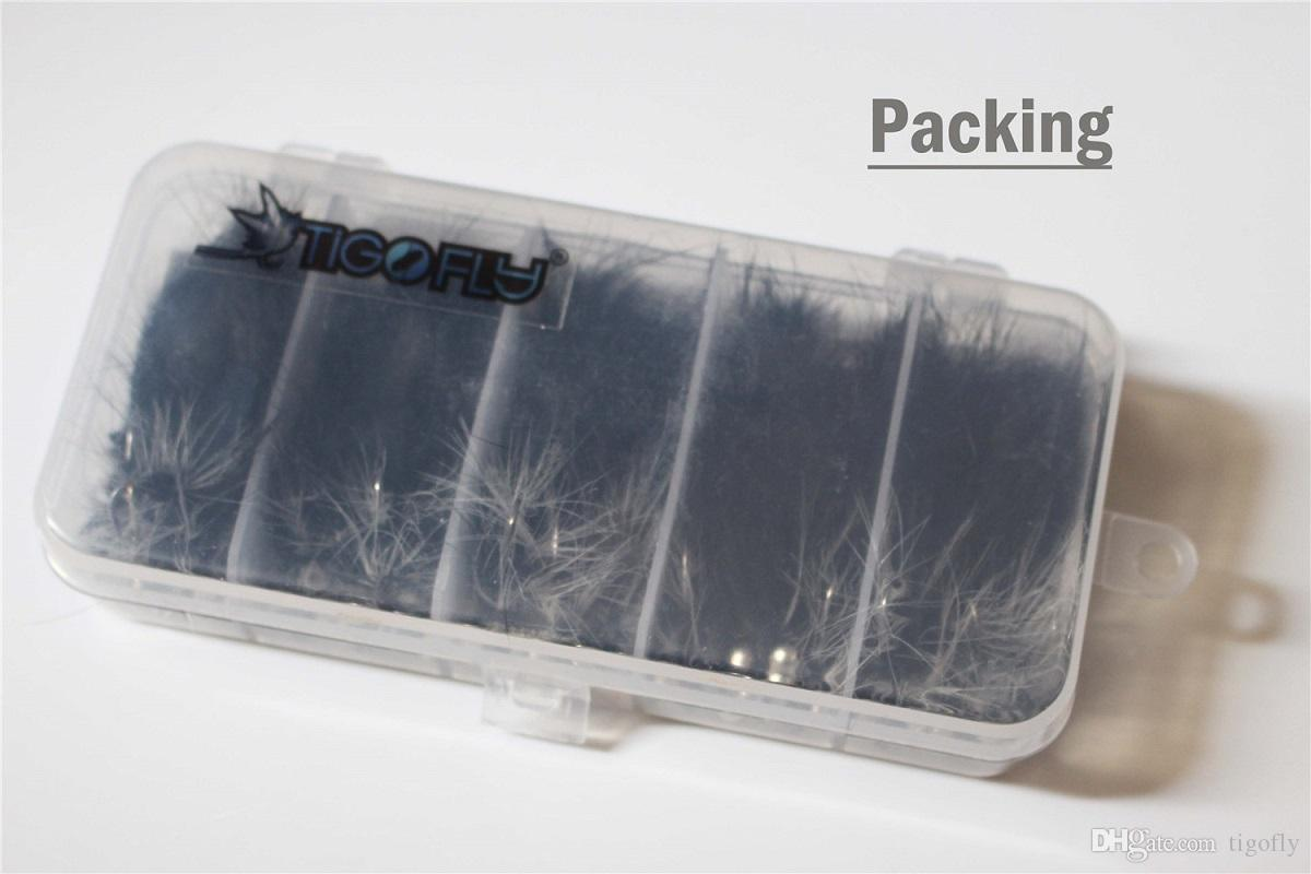 Tigofly 20 шт. / Лот Black Zonker Стримеры Форель Fly Fishing Flys Приманки со Free Fly Box - Размер № 2 № 4 № 6