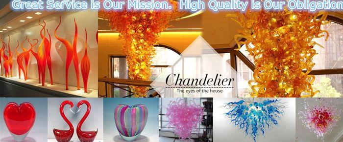 Fuente led 100% vidrio soplado a mano de borosilicato Dale Chihuly Murano Art Diseño delicado Elegante Hall Chandelier