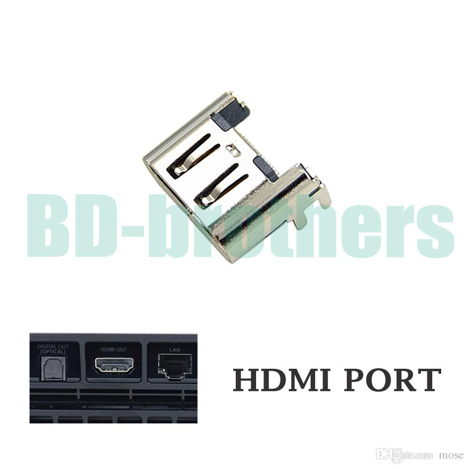 Original Silver HDMI Port Socket Interface Connector for Playstation 4 PS4 Slim