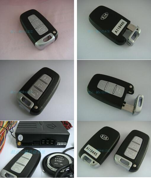 Universal Car A Key To Start Modification Intelligent Security Key System Keyless Entry Remote Start Remote Control Car Keyless Start SYS