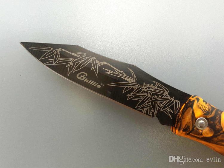 Nouvelle arrivée couteau de poche Ghillie Mini couteau pliant lame cadeau couteau de poche EDC couteaux Livraison gratuite