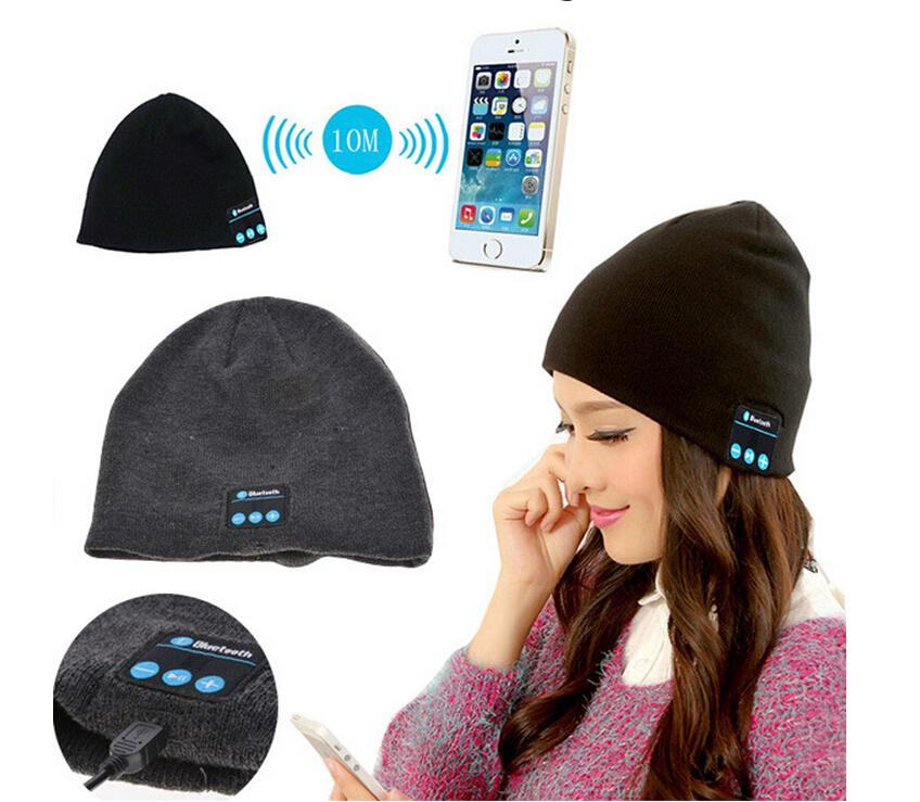 Strip Bluetooth Music Hat Soft Warm Beanie Cap with Stereo Headphone Headset Speaker Wireless Microphone with retail box