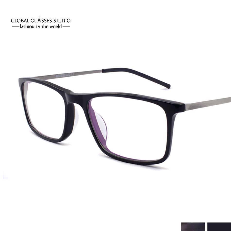 ef539fa9e129 Men Classical Handmade Square Design Eyeglasses Full Spectacle Frame Ultra  Light Myopia Glasses Frame 605G Glasses Ultra Light Spectacle Online with  ...
