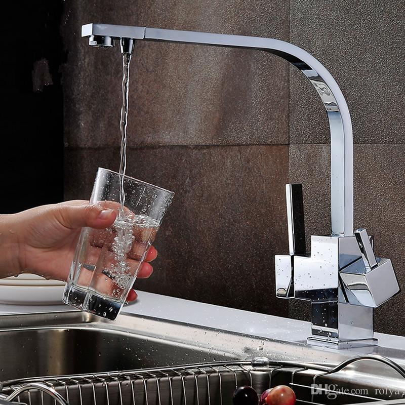 Grosshandel Rolya Cubix Tri Flow Kuchenarmatur Ro Wasser Reverse Sink