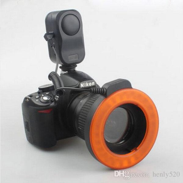 [شحن مجاني] W48 LED ماكرو ماكرو حلقة إضاءة فلاش للDSLR لCANON NIKON كاميرا ZM00088