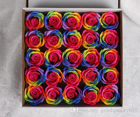 Multicolor Rose Flower Soap For Wedding Party Birthday Souvenirs Gifts Favor Home Decorate
