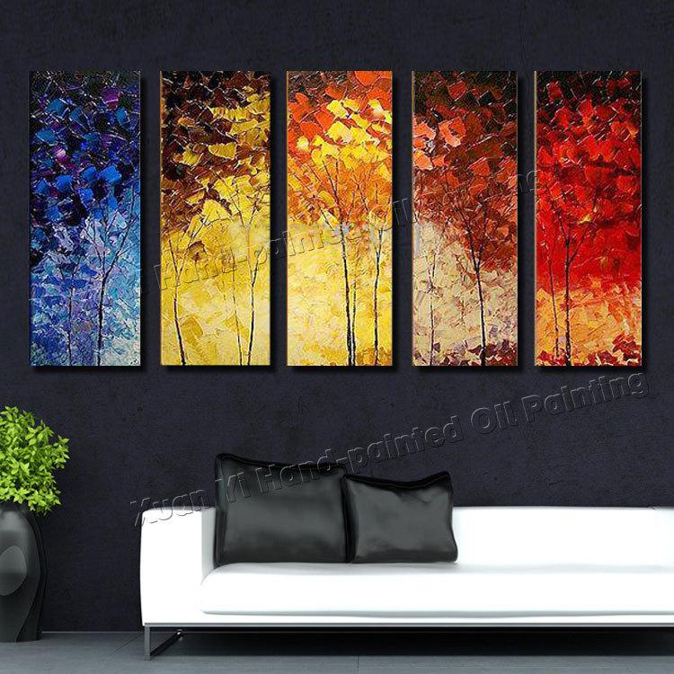 Online Cheap Hand Painted Large Abstract Palette Knife Oil Painting ...