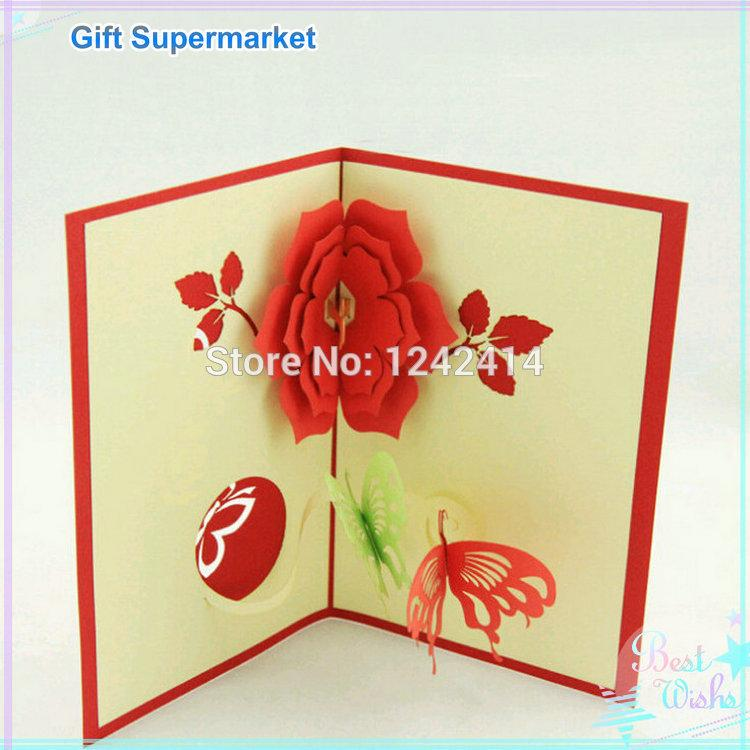 Handmade flowers with butterfly greeting cards 110150mm 3d pop up handmade flowers with butterfly greeting cards 110150mm 3d pop up gift invitation cards for birthday 80pcslot free shipping thecheapjerseys Images
