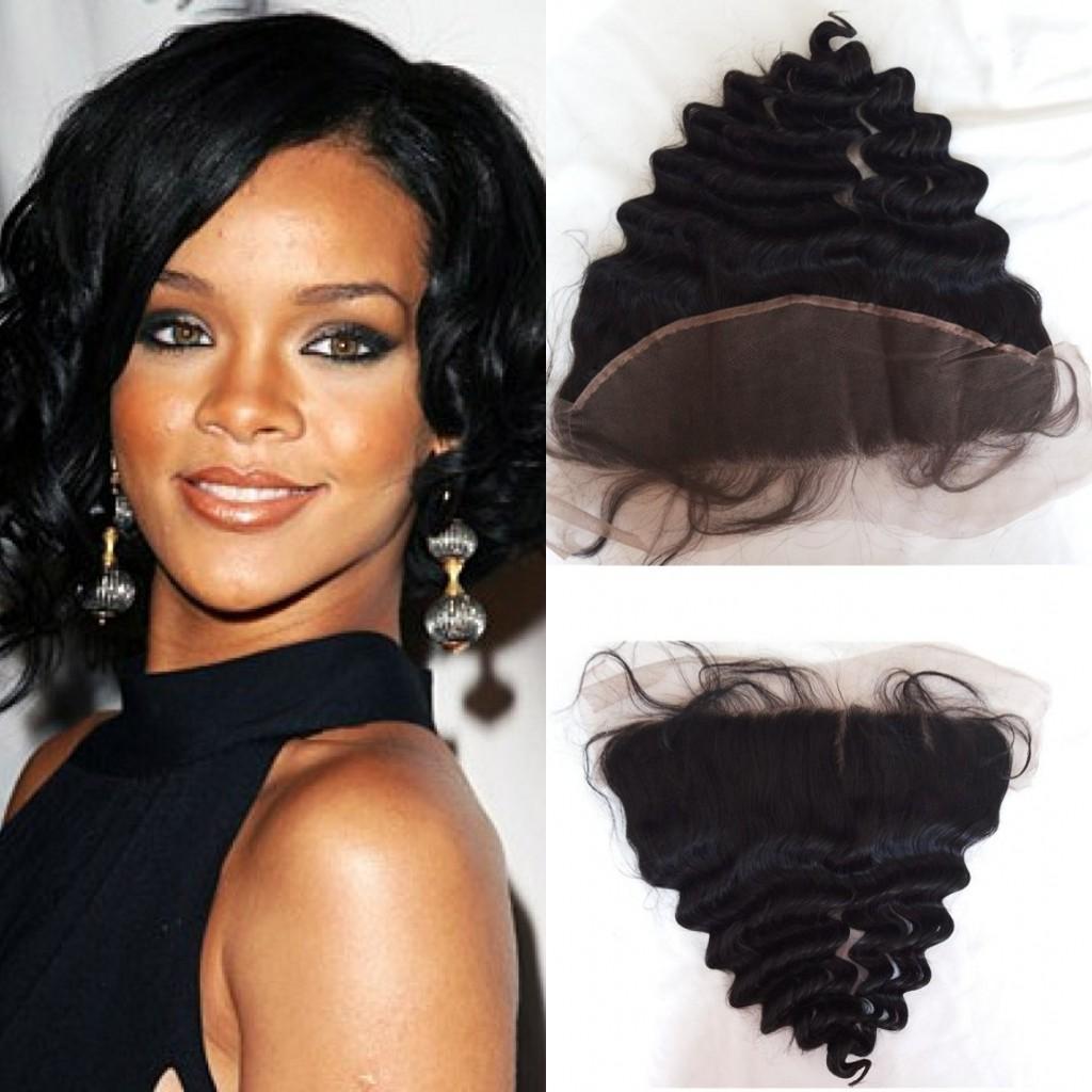 cheap shipping free 3 parts brazilian hair lace frontal closure