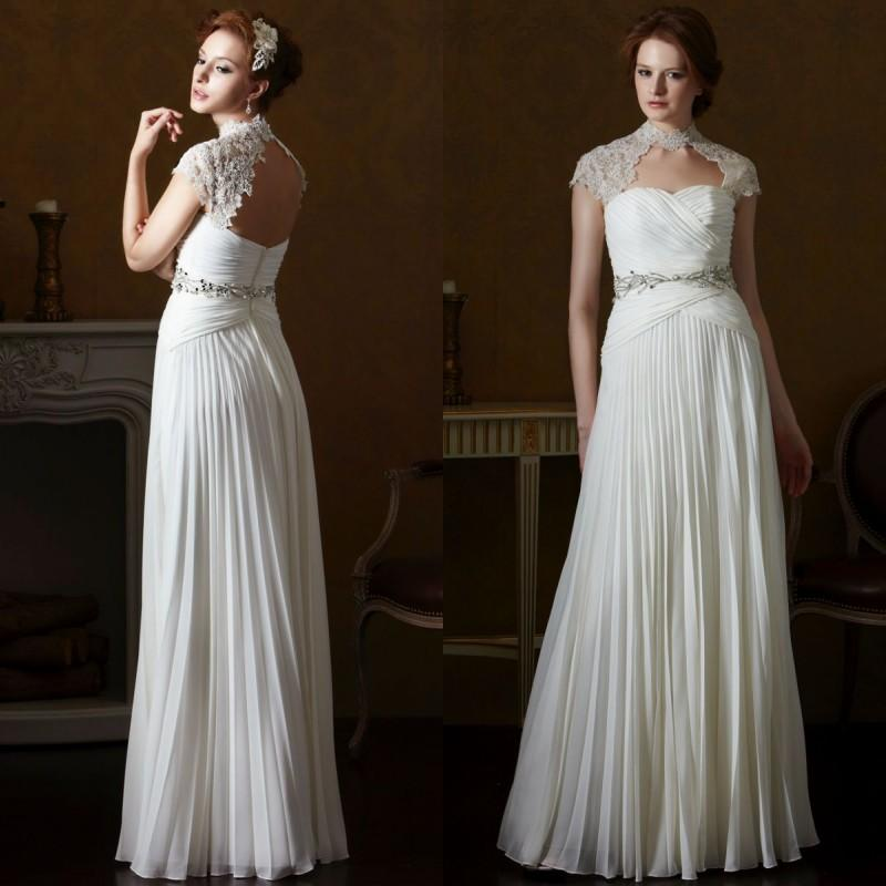 2015 Spring Beach Greek Goddess Wedding Dress Open Back Sheath ...