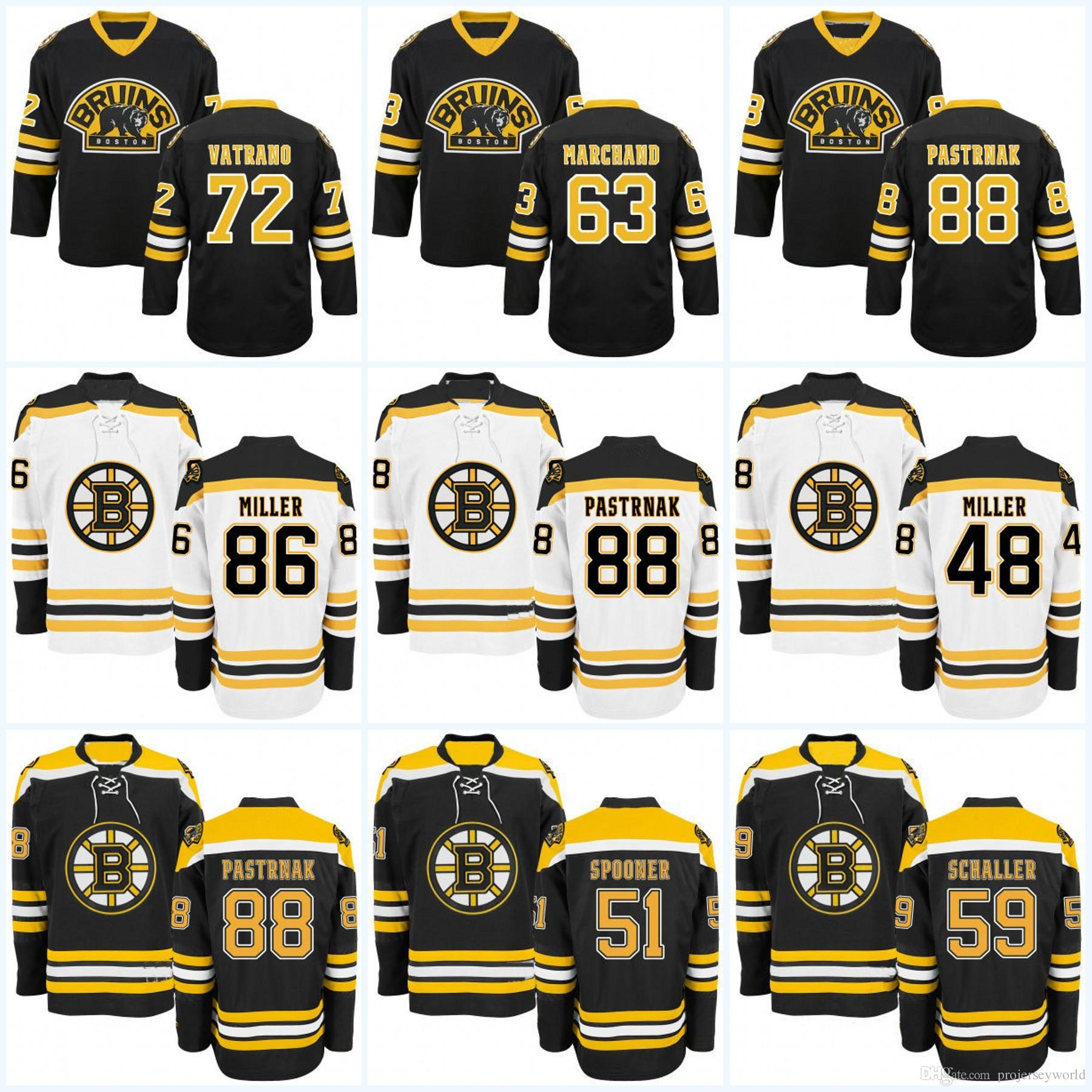 2019 Boston Bruins Youth 47 Torey Krug 48 Colin Miller 51 Ryan Spooner 55  Noel Acciari 59 Tim Schaller 63 Brad Marchand Hockey Jerseys From  Projerseyworld b683f1334