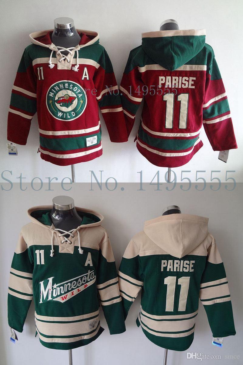 sale retailer a1978 deaa3 2016 New, Minnesota Wild #11 Zach Parise Jerseys Old Time Men s Double  stiched Hoodies Hockey Jersey Green Sweatshirt