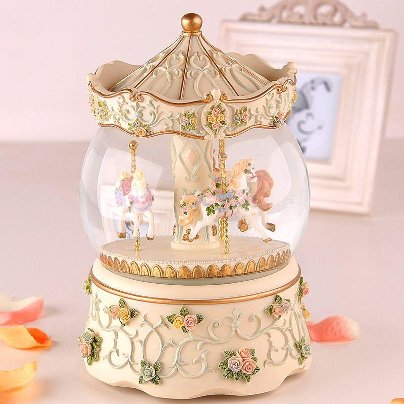 Crown Carousel Birthday Gift Ideas Crystal Ball Music Box